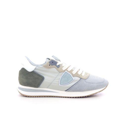 Philippe model damesschoenen veterschoen jeansblauw 212139