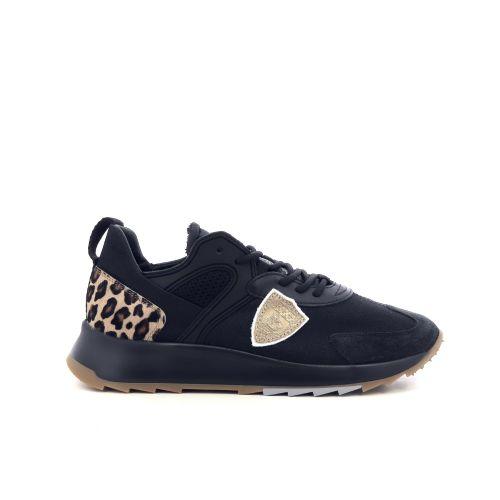 Philippe model damesschoenen veterschoen zwart 208371
