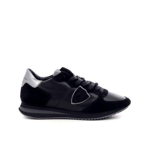 Philippe model damesschoenen veterschoen zwart 208374