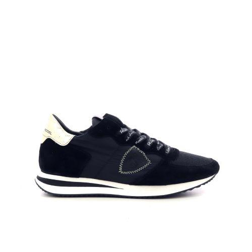 Philippe model damesschoenen veterschoen zwart 216279