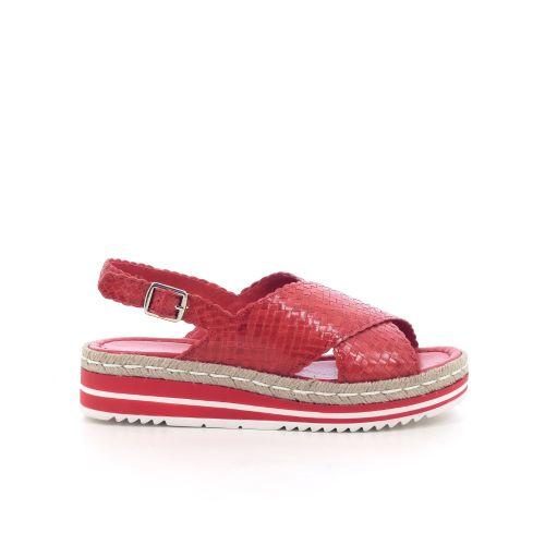 Pons quintana damesschoenen sandaal koraalrood 204552