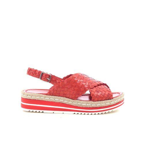 Pons quintana damesschoenen sandaal koraalrood 214891