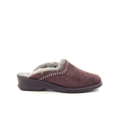 Rohde damesschoenen pantoffel d.bruin 200502