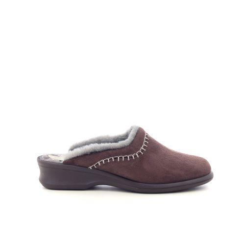 Rohde damesschoenen pantoffel d.bruin 217813