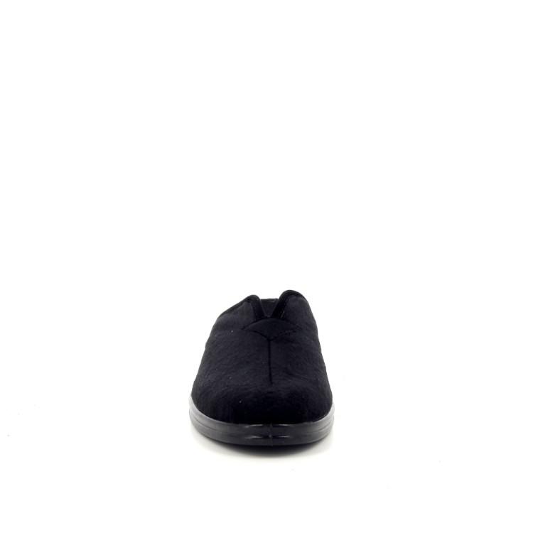 Rohde damesschoenen pantoffel zwart 189825