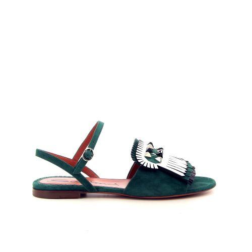 Santoni damesschoenen sandaal groen 184598