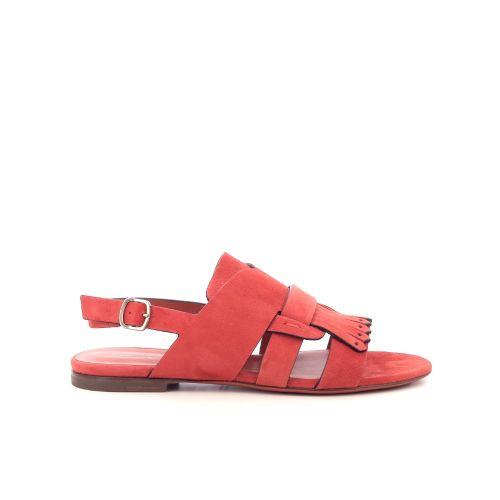 Santoni damesschoenen sandaal koraalrood 205468