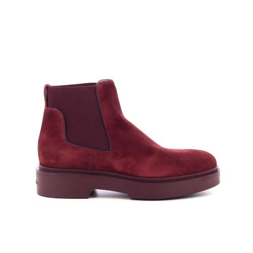 Santoni damesschoenen boots steenrood 210064