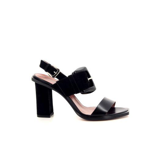 Santoni damesschoenen sandaal zwart 195236