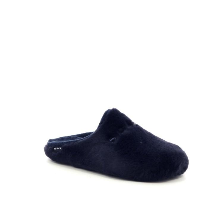 Scapa scarpe damesschoenen pantoffel donkerblauw 199494