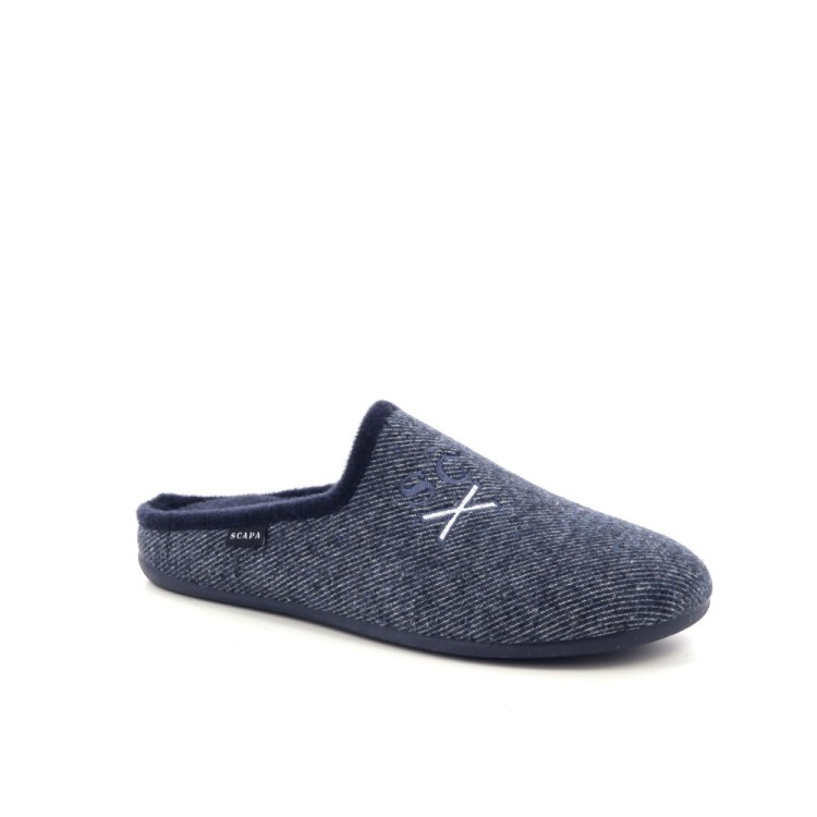 Scapa scarpe herenschoenen pantoffel blauw 199396