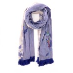 Scarf accessoires sjaals blauw 194288