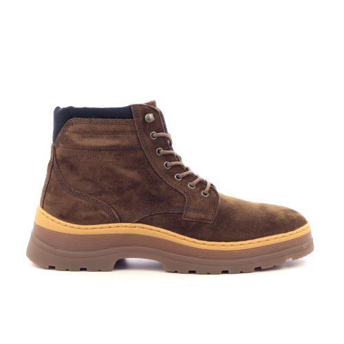 Scotch & soda herenschoenen boots roest 217075