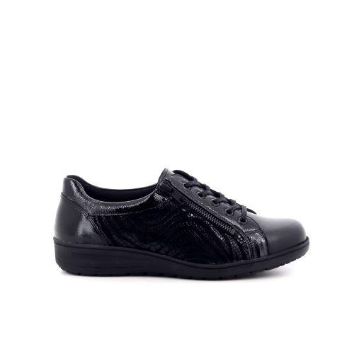 Solidus damesschoenen veterschoen donkerblauw 208527