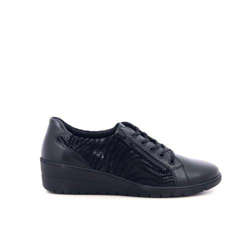 Solidus damesschoenen veterschoen donkerblauw 208531