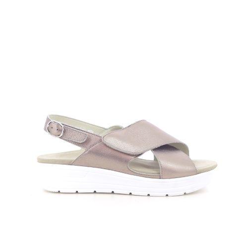 Solidus damesschoenen sandaal zilver 203301