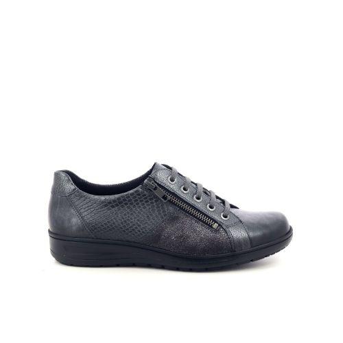 Solidus damesschoenen veterschoen zwart 198552