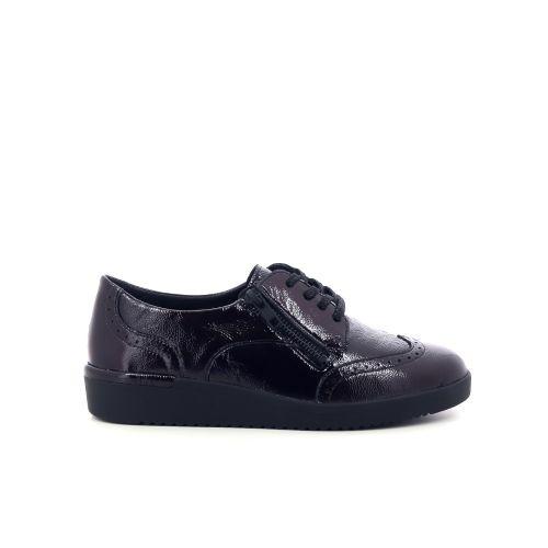 Solidus damesschoenen veterschoen zwart 208508