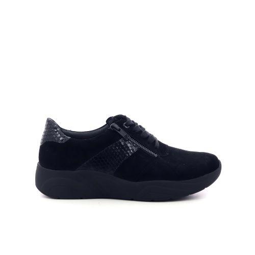 Solidus damesschoenen veterschoen zwart 208518
