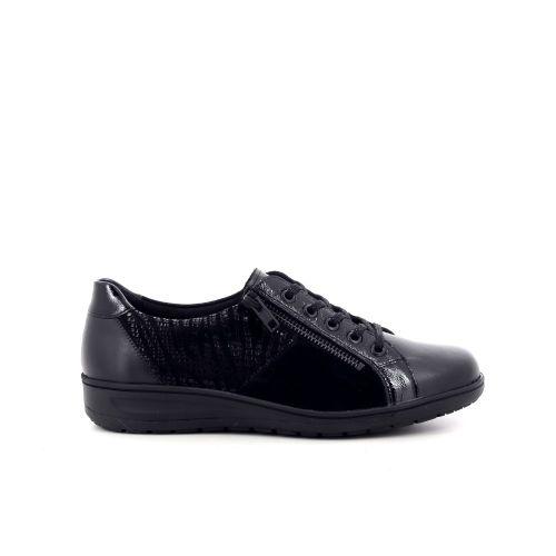 Solidus damesschoenen veterschoen zwart 208522