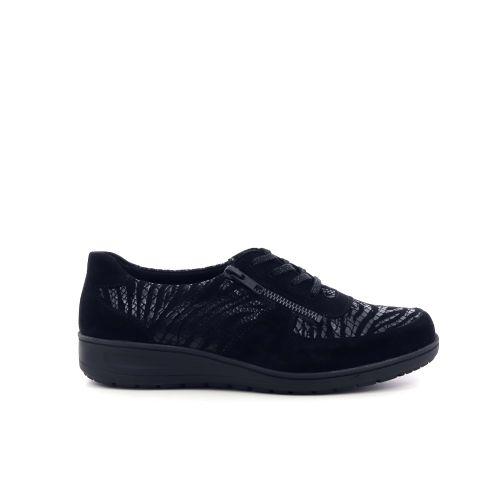Solidus damesschoenen veterschoen zwart 208524