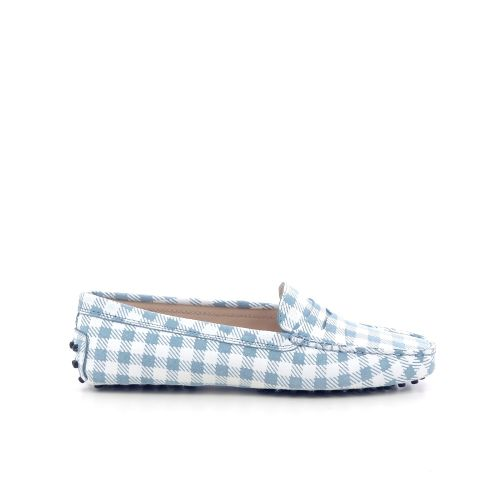 Tod's damesschoenen mocassin lichtblauw 212175