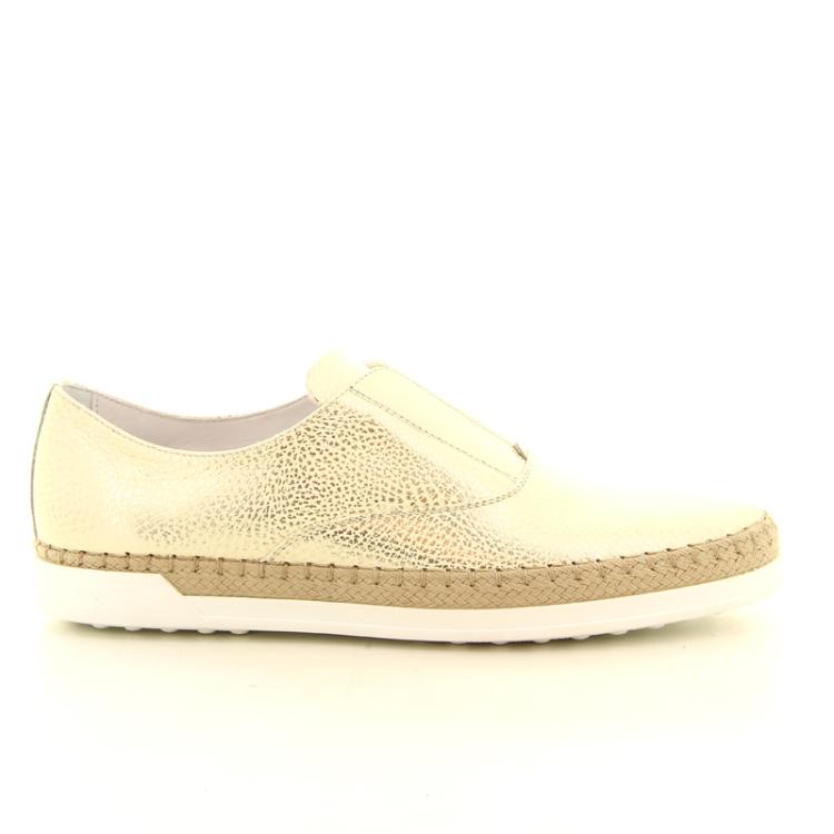 Tod's damesschoenen sneaker goudbeige 98616