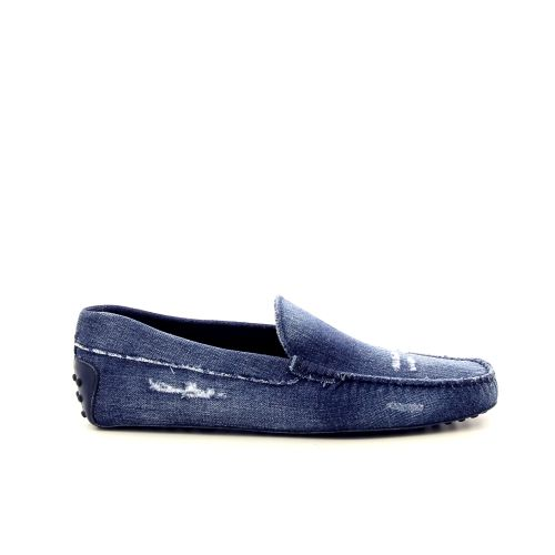 Tod's koppelverkoop mocassin jeansblauw 191748