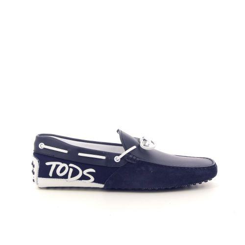 Tod's solden mocassin donkerblauw 181755