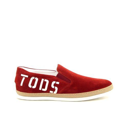 Tod's solden mocassin rood 181754