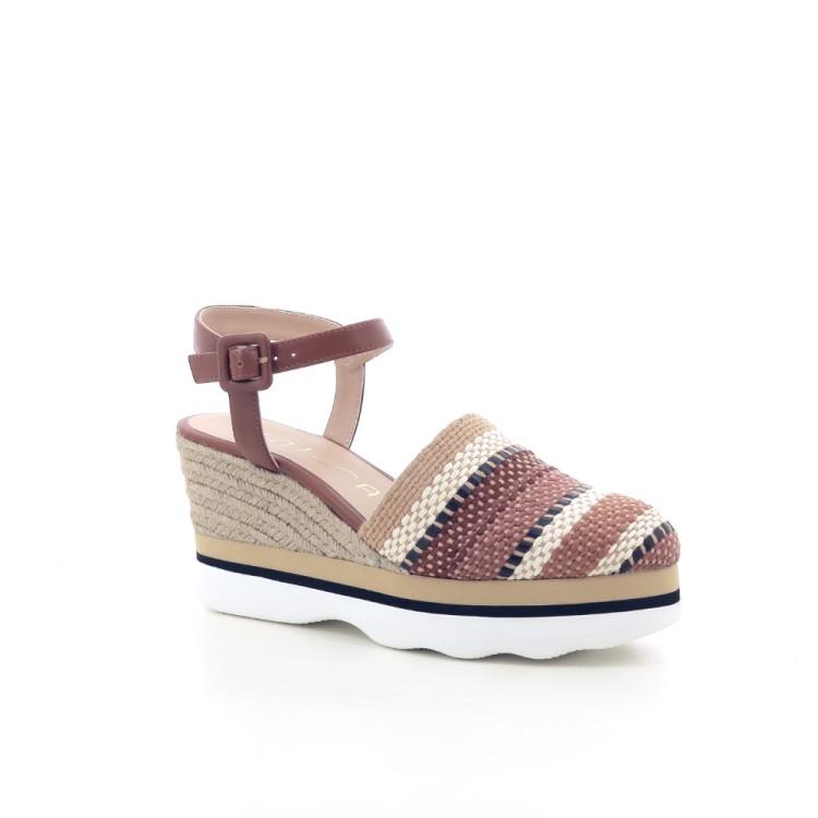 Unisa damesschoenen sandaal naturel 204599