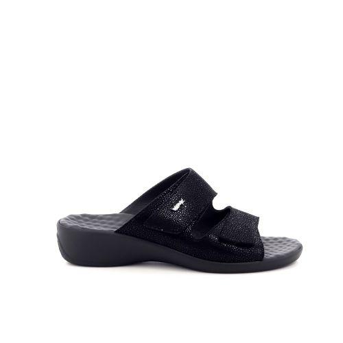 Vital damesschoenen sleffer zwart 200504