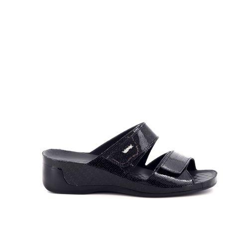 Vital damesschoenen sleffer zwart 200506