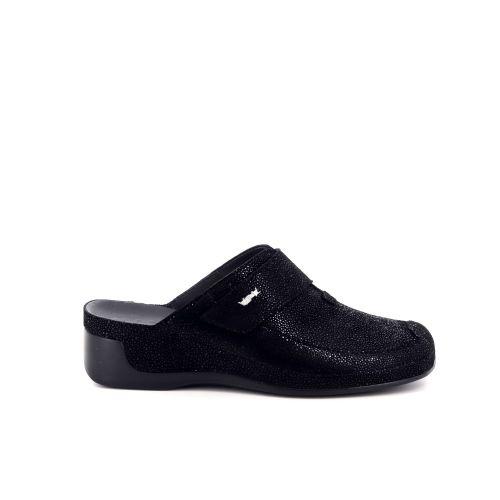 Vital damesschoenen sleffer zwart 200508