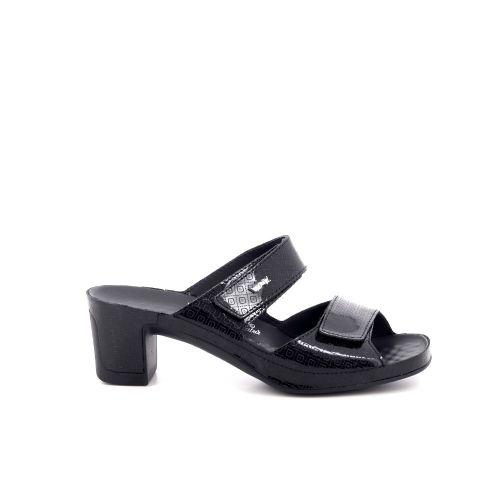 Vital damesschoenen sleffer zwart 200509