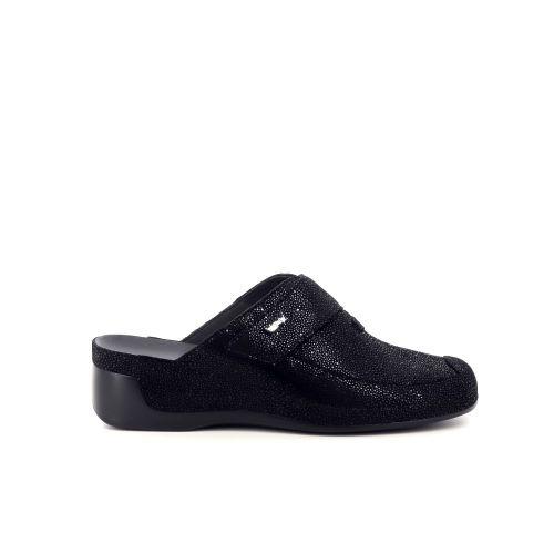 Vital damesschoenen sleffer zwart 217805