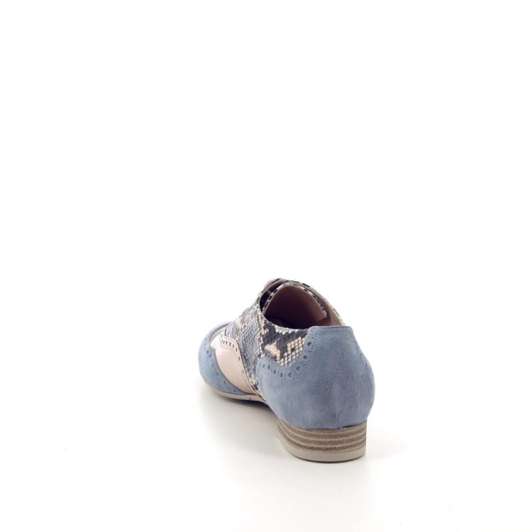 Voltan damesschoenen veterschoen lichtblauw 191519