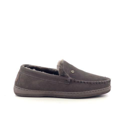 Warmbat herenschoenen pantoffel taupe 210551