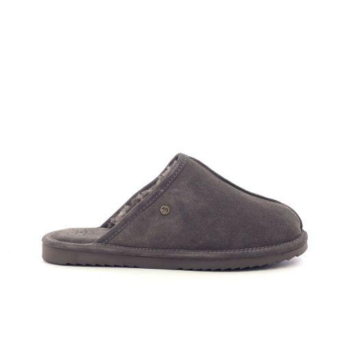 Warmbat herenschoenen pantoffel taupe 210552