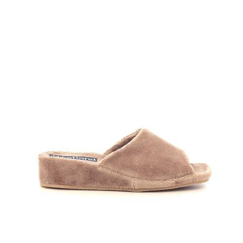Westland damesschoenen pantoffel camel 217810