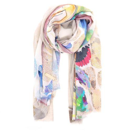 Yess accessoires sjaals licht beige 192672