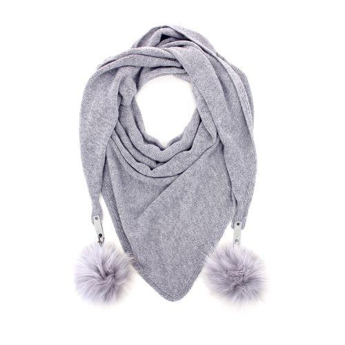 Yess accessoires sjaals lichtgrijs 178227