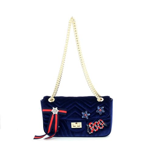 Yess solden handtas donkerblauw 187489