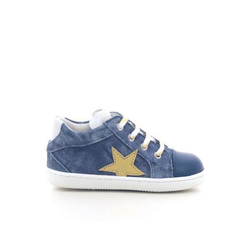 Zecchino d'oro kinderschoenen veterschoen jeansblauw 213590