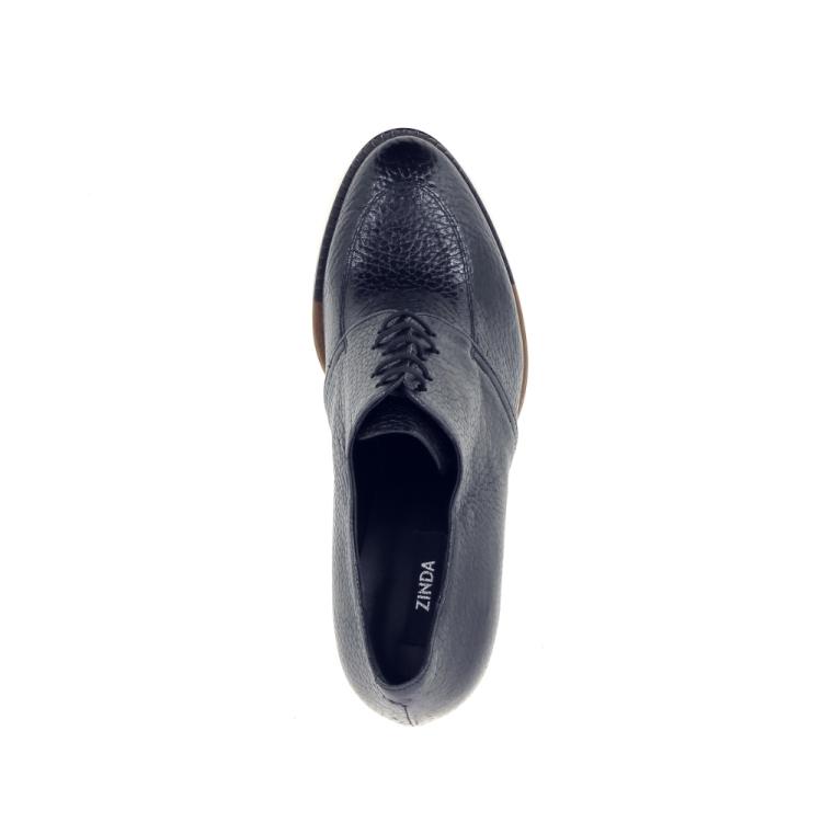 Zinda damesschoenen veterschoen zwart 200456